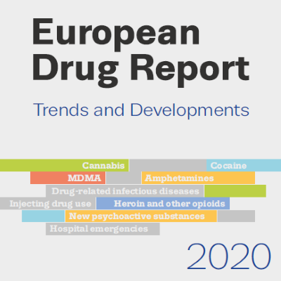 Cover page of report. European Drug Report 2020: Trends and Developments