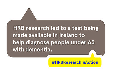 HRB research led to a test being made available in Ireland to help diagnose people under 65 with dementia
