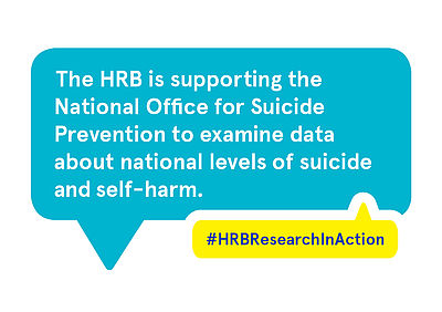 The HRB is supporting the National Office for Suicide Prevention to examine data about national levels of suicide and self-harm.