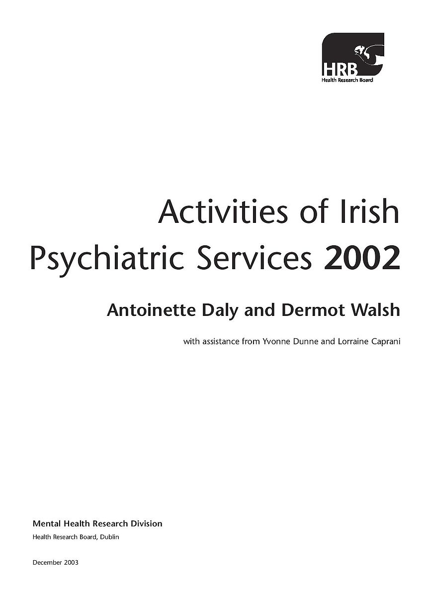 Activities Of Irish Psychiatric Services 2002