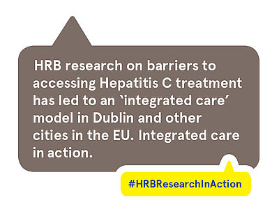 HRB research on barriers to accessing Hepatitis C treatment has led to an 'integrated care' model in Dublin and other cities in the EU. Integrated care in action.