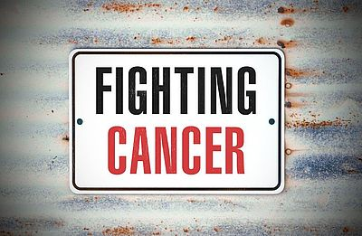 License plate that says Fighting cancer