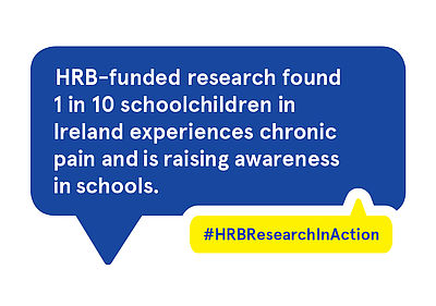HRB-funded research found 1 in 10 schoolchildren in Ireland experiences chronic pain and is raising awareness in schools.