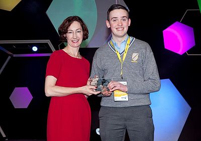HRB Special Prize winner BT Young Scientist 2014 Eamonn Sweeney, and Mairead O'Driscoll, HRB
