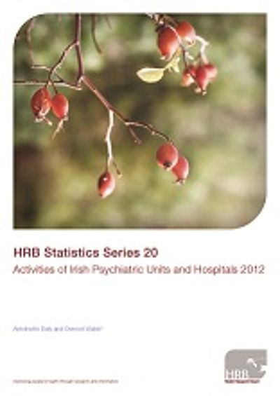 Front cover of HRB Statistics Series 20. Activities of Irish Psychiatric Units and Hospitals