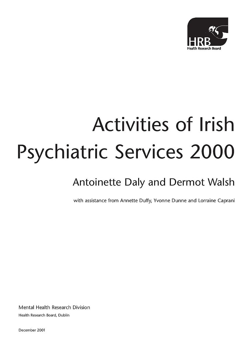 Activities Of Irish Psychiatric Services 2000