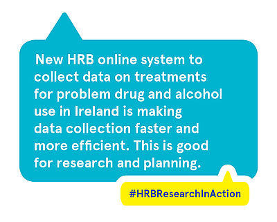 New HRB online system to collect data on treatments for drug and alcohol misuse in Ireland is making data collection faster and more efficient. This is good for research and planning.