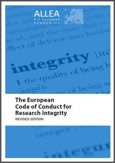 Code of Conduct for Research Integrity - Front cover
