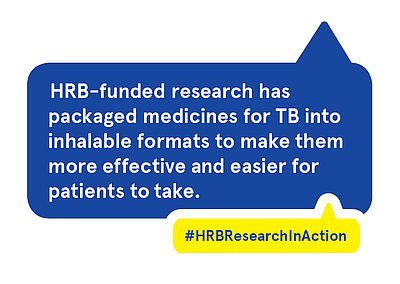 HRB-funded research has packaged medicines for TB into inhalable formats to make them more effective and easier for patients to take.