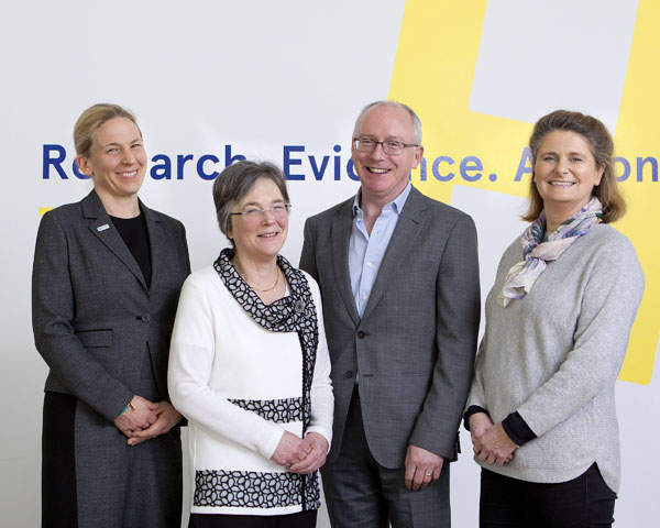 (Left to right) Susan Steele, Jane Grimson, Tom Fahy, Mairead Harding
