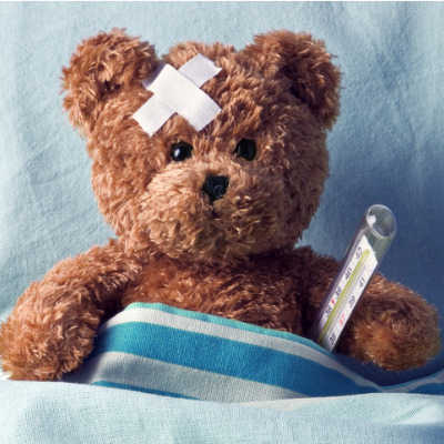 Teddy bear feeling unwell
