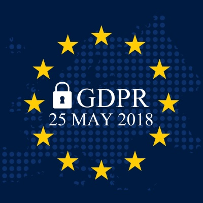 General data protection regulation logo and date 25 May 2018